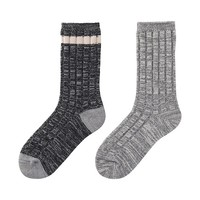 WOMEN HEATTECH Socks 2P(Rib Melange)