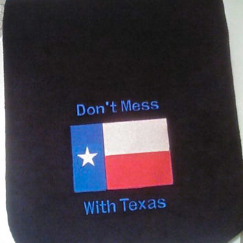 "Center Console Cover Embroidered ""Don't Mess with Texas""  for Any Car Truck or SUV Armrest Lid"