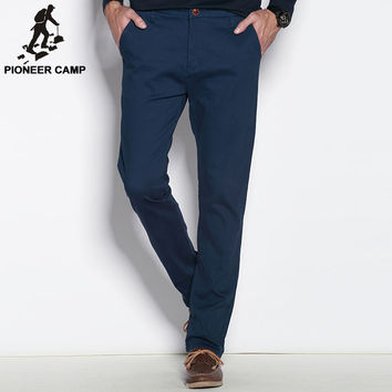 Pioneer Camp Thick autumn winter casual pants men brand clothing high quality cotton 2017 New fashion male business trousers