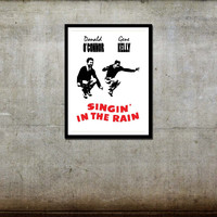 Singing in the Rain  Movie Poster - $14.99 - Handmade Crafts by FADE