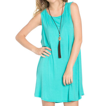 Sleeveless Swing Dress Mint