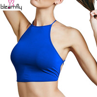 All-match Sexy Backless Bandage Halter Crop Top Women's Summer Fashion Candy Short Camis Cropped Bustier Top 6 colors