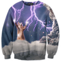 Lightning Cat Crewneck
