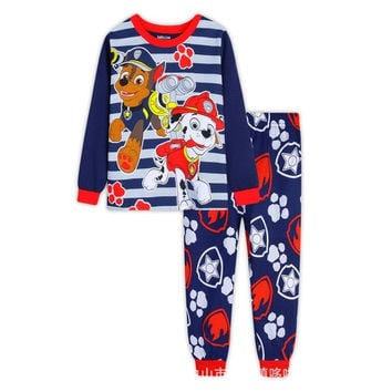 Kids Cartoon PAW Dog Pajama Boys Home Sleepwear Set Dogs Casual Nightwear Childrens Family Clothes Kids Sleeping Clothing