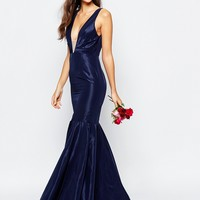 Fame and Partners Modern Dream Fishtail Maxi Dress