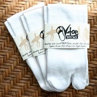 White V-Toe Flip Flop Socks (3 Pair)