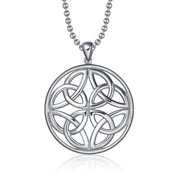 ON SALE - Trinity Celtic Knot Pendant Necklace