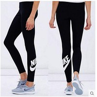 Nike Fashion Print Exercise Fitness Gym Yoga Running Sportswear Legging