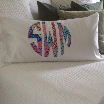 Lilly Pulitzer Monogram Standard Pillowcase Listing 2