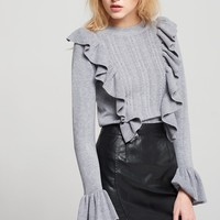 Anne Ruffle Knit Discover the latest fashion trends online at storets.com