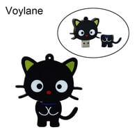Voylane Cute Cartoon Cat USB Flash Drive Memory Stick Pendrive USB Stick Pen Drive 32GB 16GB 8GB 4GB Flash Card