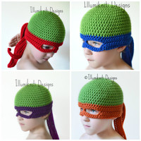 Turtle Ninja Kids Hat - Halloween Costume - Made to Order