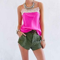 Pins And Needles Silk Mesh Cami-