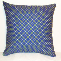 "Pillow Covers 18"" Set of Two - Blue Diamond Pattern"
