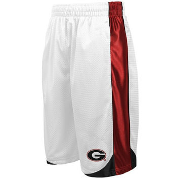 Georgia Bulldogs Vector Mesh Shorts – White