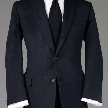 Vintage 60s Hart Schaffner Marx 3/2 Button Roll Charcoal Blazer/Jacket 42 R Monkey Suit