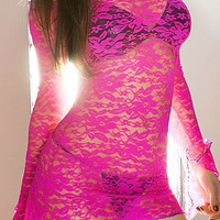 Fluorescent Lace Smock