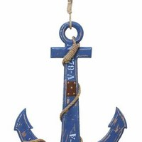Benzara Ocean Harbor Weighing Anchor decor With Nautical Rope