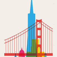Shapes of San Francisco. Accurate to scale Art Print by Yoni Alter | Society6