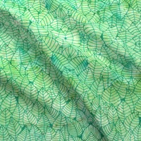 Green foliage fabric - savousepate - Spoonflower