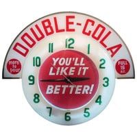 Double Cola Neon Advertising Wall Clock