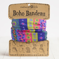 Blue, Pink & Mustard Boho Bandeau by Natural Life