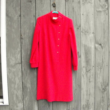 Vintage dress: Coral Pendleton wool shift