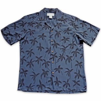 Balmy Black Hawaiian Rayon Shirt