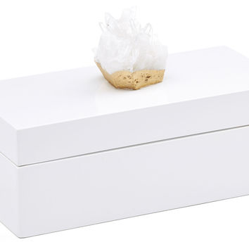 White Box w/ Himalayan Crystal, Medium, Boxes