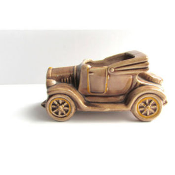 Vintage 1930 Style Automobile Planter Brown