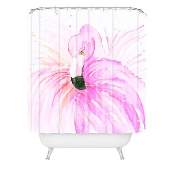 Monika Strigel Flamingo Ballerina Shower Curtain