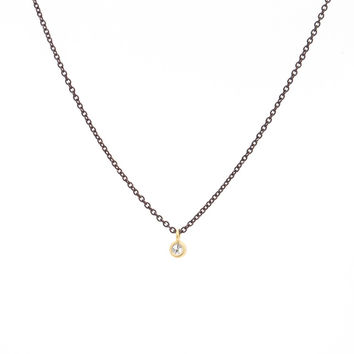 Petite Diamond Charm Necklace