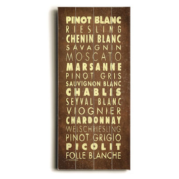 White Wines Wood Sign, Signs