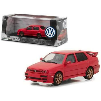 1995 Volkswagen Jetta A3 Red 1/43 Diecast Model Car by Greenlight