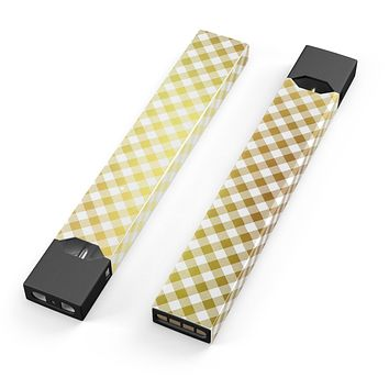Skin Decal Kit for the Pax JUUL - Gold and White Plaid Picnic Table Pattern