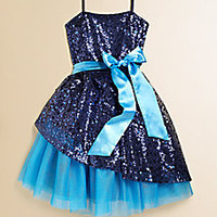 Un Deux Trois - Girl's Sequin Peek-A-Boo Dress - Saks Fifth Avenue Mobile