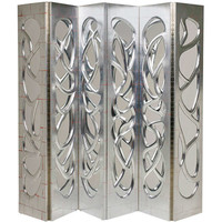 Pair of Silvered-Walnut Mirrored Screens by Phillip Lloyd Powell, 2000