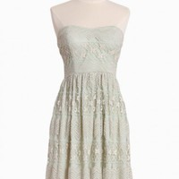 Glowing Emblem Lacy Strapless Dress
