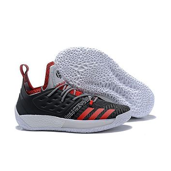 Adidas Harden Vol. 2 Black/white/red Basketball Shoes Us7 11.5
