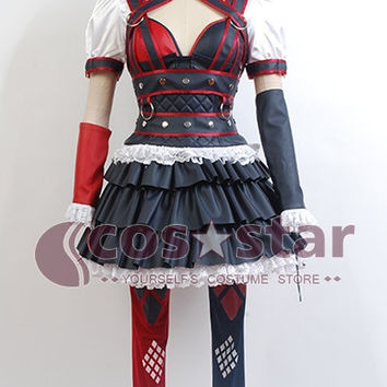 Batman: Arkham Knight Harley Quinn Dress Cosplay Costume Halloween Costume For Adult Women