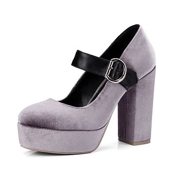 Mary Jane Shoes Super High Heels Platform Pumps
