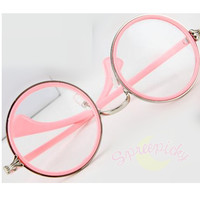 Retro Big Round Glasses NOT Free Ship SP141333 from SpreePicky