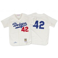 Jackie Robinson 1955 Authentic Jersey Brooklyn Dodgers | Mitchell & Ness