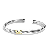 X Bracelet with Gold - David Yurman