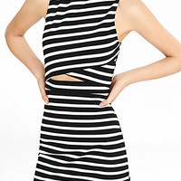 Striped Cutout Mini Sheath Dress from EXPRESS