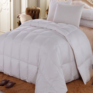 Royal Hotel Solid Goose Down Comforter (Four Season Fill)