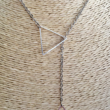 Triangle Silver Short Necklace