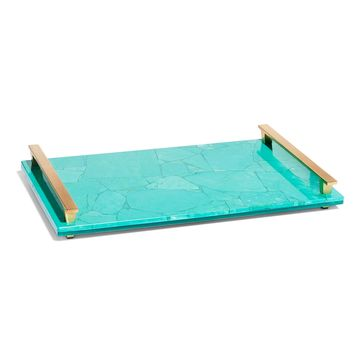 Large Decorative Tray in Teal Magnesite | Kendra Scott
