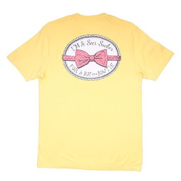 Seersucker For a Boy in a Bowtie Tee by Lauren James