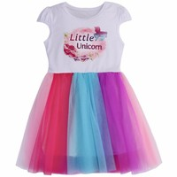 Little Sister Princess Girls Dress Summer Children Clothes;2018 Colorful Lace Baby Girl Cotton Wedding Dress For Kids Vestidos